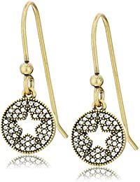 Pave Star Charm Earrings