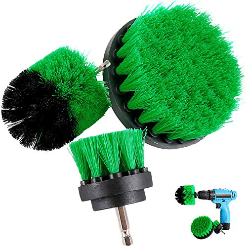 Drill Brush Attachment Kits, 3 Pieces Cleaner Scrubbing Brushes for All...