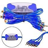 FidgetFidget Audio Noise Filter 4 Channel RCA Suppressor Ground Loop Isolator Car Stereo 4CH`