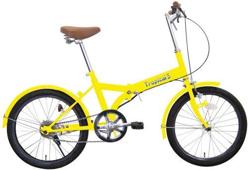 ミムゴ 20インチ折畳み自転車 トロピカルファイブ B0018P3FG2 イエロー イエロー
