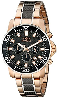 "Invicta Men's 17255SYB ""Pro Diver"" 18k Rose Gold Ion-Plated Casual Watch by Invicta"