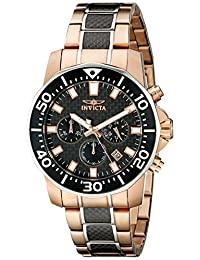 Invicta Men's 17255SYB Pro Diver Analog Display Japanese Quartz Two Tone Watch