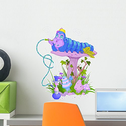 Wallmonkeys Alice Blue Caterpillar Wall Decal Peel and Stick Decals for Girls (18 in H x 15 in W) -