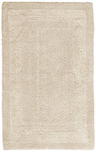 Pinzon Luxury Reversible Cotton Bath Mat - 30 x 50 inch, Ivo