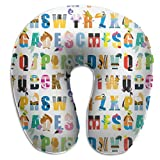 Best Disney Pillow For Neck And Shoulder Pains - Jhgsjnsf Disney Alphabet Mania Pattern Travel Pillow Memory Review
