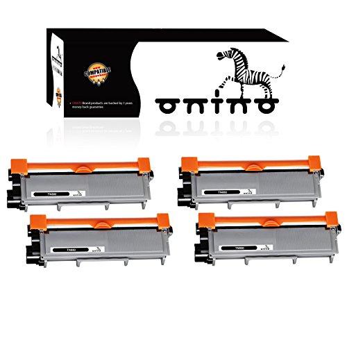 ONINO 4-black TN660 TN-630 Toner Cartridge Replacement for Brother HL-L2340DW HL-L2380DW HL-L2300D DCP-L2540DW DCP-L2520DW MFC-L2700DW MFC-L2740DW Printer by onino