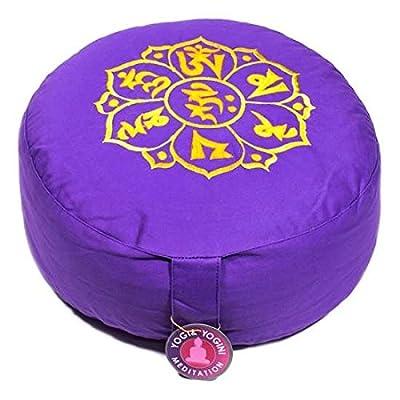 Coussin de méditation chance mani padme hum la violette de Spitz e4758e35eaf