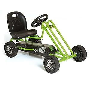 51Hg%2BdvOJZL. SS300  - Hauck Lightning - Pedal Go Kart | Pedal Car | Ride On Toys For Boys & Girls With Ergonomic Adjustable Seat & Sharp…