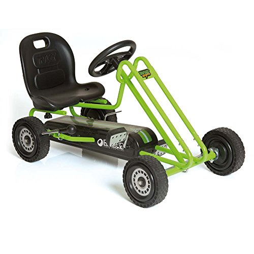 Hauck Lightning - Pedal Go Kart | Pedal Car | Ride On Toys For Boys & Girls With Ergonomic Adjustable Seat & Sharp Handling - Race Green -