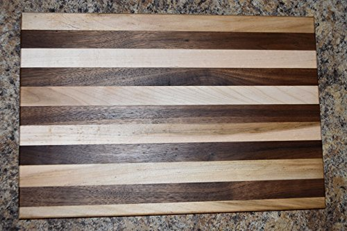 Black Walnut and Maple Large and Small Cutting Board Set