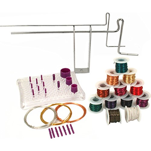 (Deluxe Bend & Coil Jig Tools Wire Wrapping Starter Set)