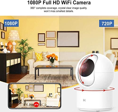 1080P Wireless Smart Home Indoor Baby IP Security Camera IMILAB,2.4Ghz WiFi Surveillance Dome Camera Pet Nanny Monitor with Two-Way Audio,HD Night Vision,Pan/Tilt,Remote View Support Max 256GB SD… 51Hg 1kOPRL