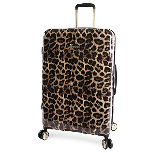 "BEBE Women's Luggage Adriana 29"" Hardside Check in Spinner, Leopard"