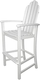product image for POLYWOOD Adirondack Bar Height Chair, White