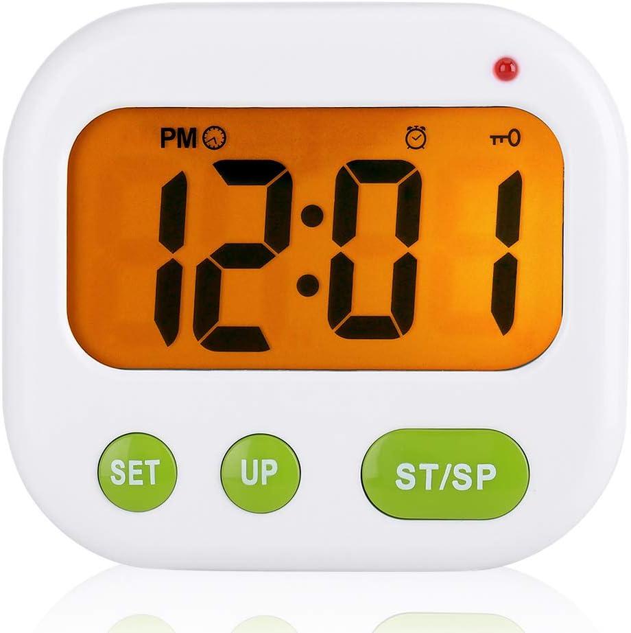 Despertador Digital LCD Reloj de Vibración con Pilas Reloj de ...
