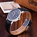 Ryanwayland-Math-Formula-Equation-Dial-Unisex-Leather-Quartz-Watch-Black