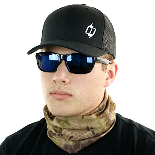 Print Cap Microfiber (Hoo-Rag Kryptek Face Mask with Highlander Pattern Wear This Facemask Over 12 Ways)