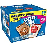 Kellogg's Pop-Tarts Frosted Toaster Pastries Variety Pack, Frosted Strawberry and Brown Sugar Cinnamon, 32 Count (32 Count(2 pack))