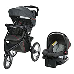 The Graco Trax Click Connect Jogger is filled with features for your full life. Whether you're shopping, strolling, or jogging, this stroller has the comfort and convenience to meet all your needs. The travel system includes the top-rated Gra...