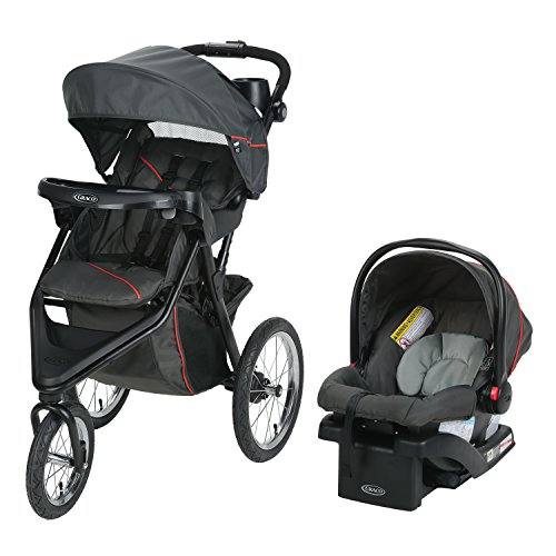 Graco Trax Jogger Travel System, Evanston (Graco Fastaction Infant Car Seat)