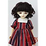 Jusuns JD012 6-7inch 16-18CM Black Baby wave Sophia mohair doll wigs 1/6 YOSD BJD Doll accessories