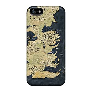 New Fashion Premium Tpu Cases Covers For Iphone 5/5s - Map Game Of Thrones