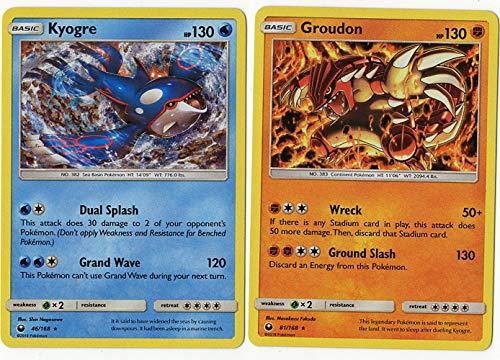 Pokemon Legendary Set - KYOGRE 46/168 & Groudon 81/168 - Celestial Storm - 2 Card Holo Rare LOT