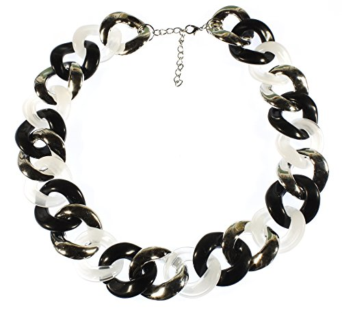 Lovely Chrome Lucite Necklace Adjustable product image