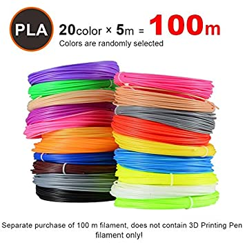 Amazon.com: W-Shufang,3D 20PCS/lot 3D Printer Filament 5M ...
