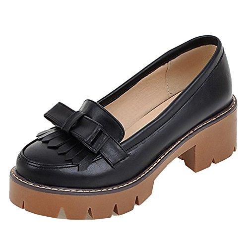 à Femme Chaussures Col Moyens Talons Cularacci Neri nSEx7zS