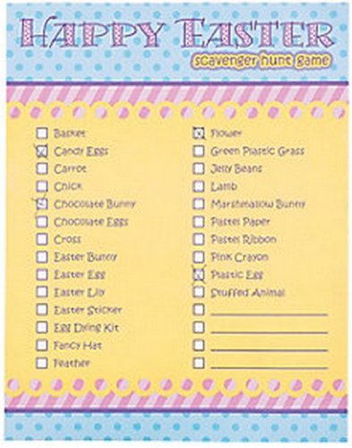 Easter Scavenger Hunt Game (2 Dozen) Party Supplies/Easter/Games/Activities/Toys