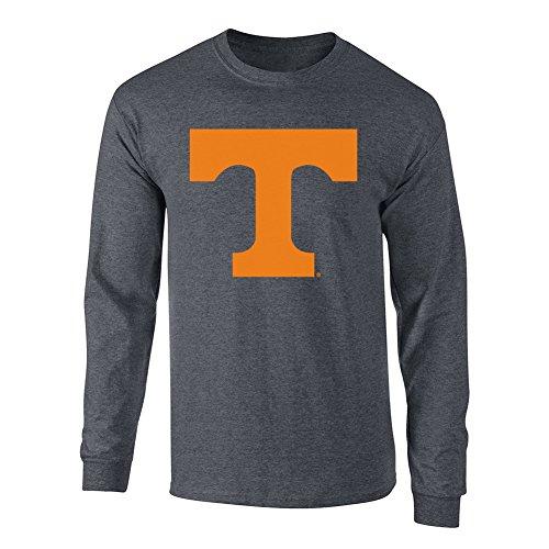 Tennessee Long Volunteers Sleeve (Elite Fan Shop Tennessee Volunteers Long Sleeve Tshirt Charcoal - L - Heather Gray)