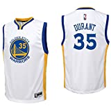 OuterStuff Kevin Durant Golden State Warriors #35 White Youth Home Replica Jersey X-Large 18/20