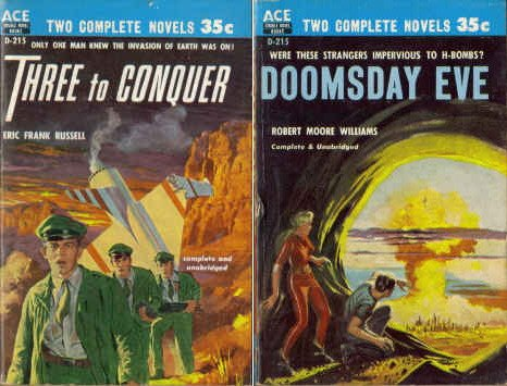 Three to Conquer / Doomsday Eve (Classic Ace Double, D-215)