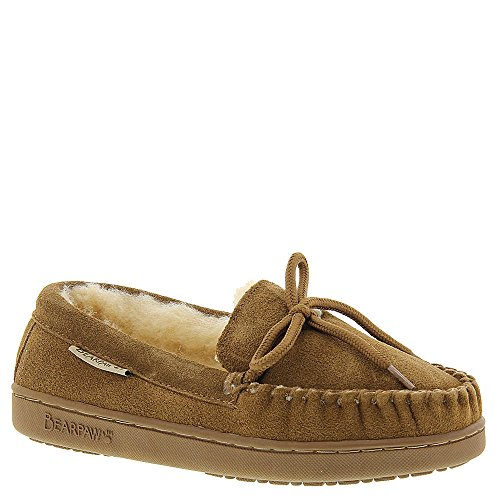 Bearpaw Slippers Boys Moc II Sheepskin Rubber 2 Child Hickory 1295Y