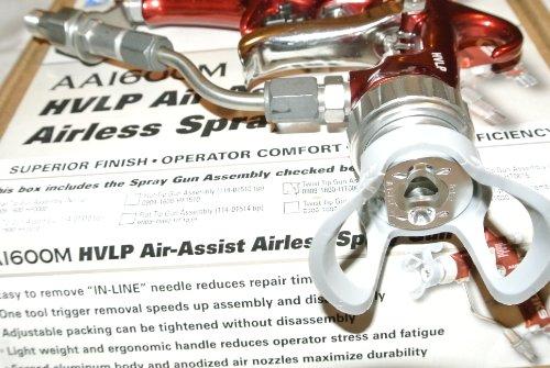 Airless Spraygun Manufacturers Mail: Binks AA1600M HVLP Air Assist Airless Paint Spray Gun Kit