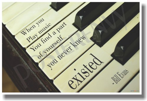 When You Play Music - Piano - NEW Music Poster