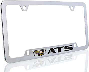 Cadillac ATS Chrome Brass Metal License Plate Frame Official Licensed