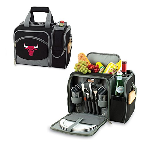 12 Can NBA Malibu Picnic Cooler Color: Black, NBA Team: Chicago Bulls by PICNIC TIME