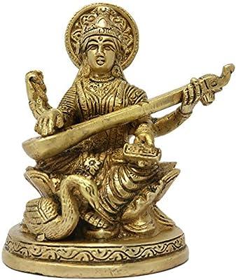 ShalinIndia Brass Religious Idols with Swan on Lotus Sculpture ...