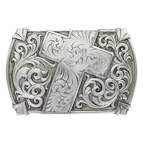 Montana Silversmiths Antiqued Walk of Faith Buckle (30210RTS) (Faith Buckle)