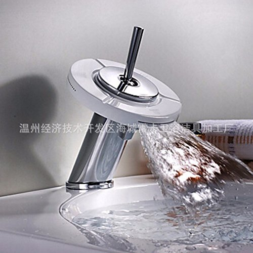 Single, 360 degree rotatable, three kinds of water, all copper, chrome plating, painting waterfall, water tap by PINWEI