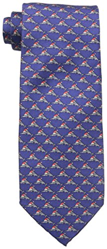 Tommy Bahama Necktie - Tommy Bahama Men's Holiday Marlin Tie, Navy, One Size