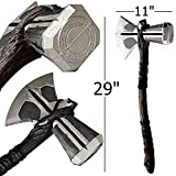 YPL Stormbreaker in Foam Props Replica Odinson Hammer Axe Cosplay Thor Costume Prop 27' Thor Stormbreaker & 17' Thor Hammer Mjolnir of Norse (Axe 2)