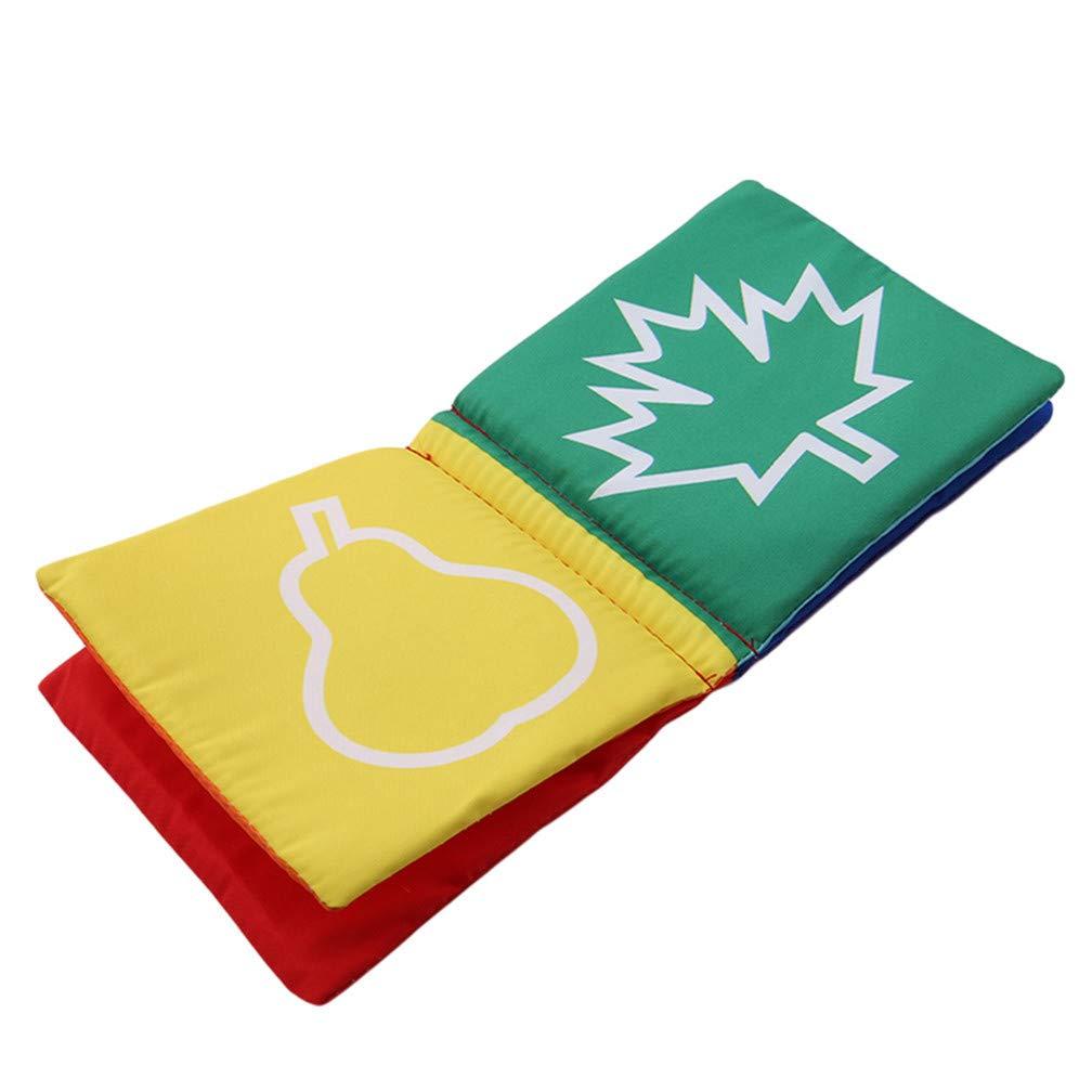 Couleur Coeur LJSLYJ Livre en Tissu Livre D/éveil Multifonction Jouet Educatif Cadeau Anniversaire F/ête Nouvel an pour B/éb/é Enfant