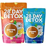 Skinny Boost 28 Day Detox Tea Kit-1 Daytime Tea (28 Bags) 1 Evening Detox Tea (14 Bags) Supports Detox, Cleanse…