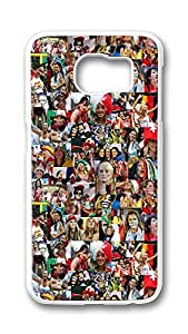 Samsung Galaxy S6 Case,Logo Series Customize Ultra Slim Brazil World Cup Theme Wallpaper 21 Hard Plastic PC White Case Bumper Cover for S6