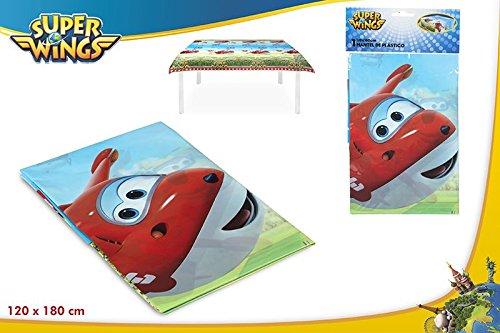 77066 Colorbaby nappe en plastique superwings pour f/êtes et anniversaires 120x180cm