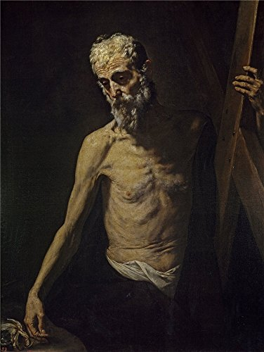 Polyster Canvas ,the High Resolution Art Decorative Prints On Canvas Of Oil Painting 'Ribera Jose De San Andres Ca. 1631 ', 18 X 24 Inch / 46 X 61 Cm Is Best For Game Room Artwork And Home Gallery Art And Gifts