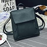 DDLBiz Women Girl Leather Rucksack Shoulder Bookbags School Bag Satchel Travel Backpack (Green)